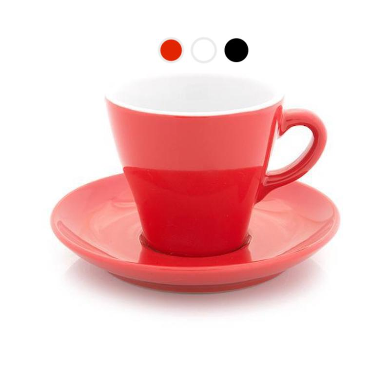 Tulip shape cappuccino cups, 6 oz in 3 colors