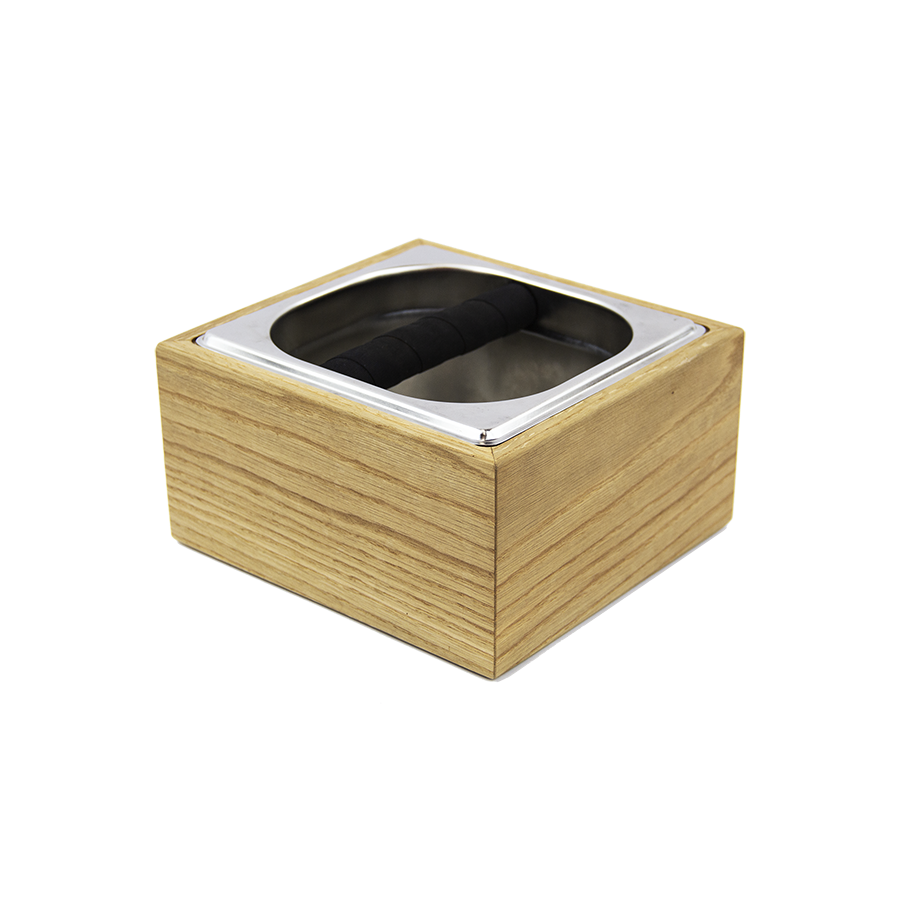 Wooden Base Coffee Knock Box