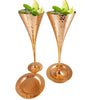 Image of Champagne Copper Flutes Set of 4 - Matching Copper Coasters