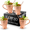 Image of Embossed Exclusive Moscow Mule Copper Mugs Gift Set of 4
