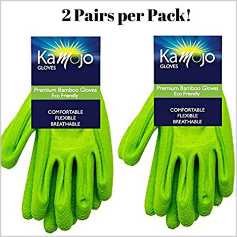 Bamboo Eco-Friendly Garden Gloves 2 Pairs Per pack