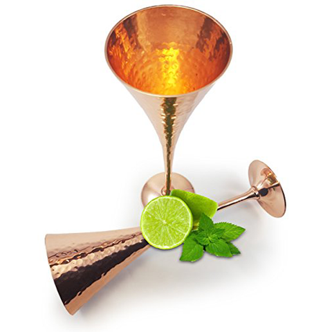 Moscow Mule Champagne Hammered Copper Flutes