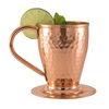 Image of Hammered Moscow Mule Copper Mugs Gift Set of 4