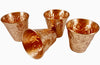 Image of Pure Copper Embossed Shot Glass Collection Set of 4