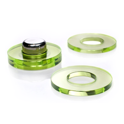 Set of 4 Acrylic Coasters, Lime Green