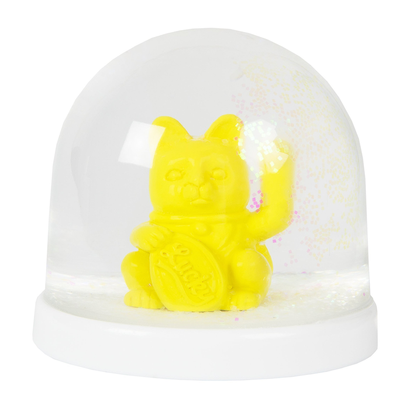 Lucky Cat  Snow Globe