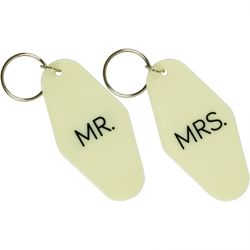 Mr & Mrs keyring