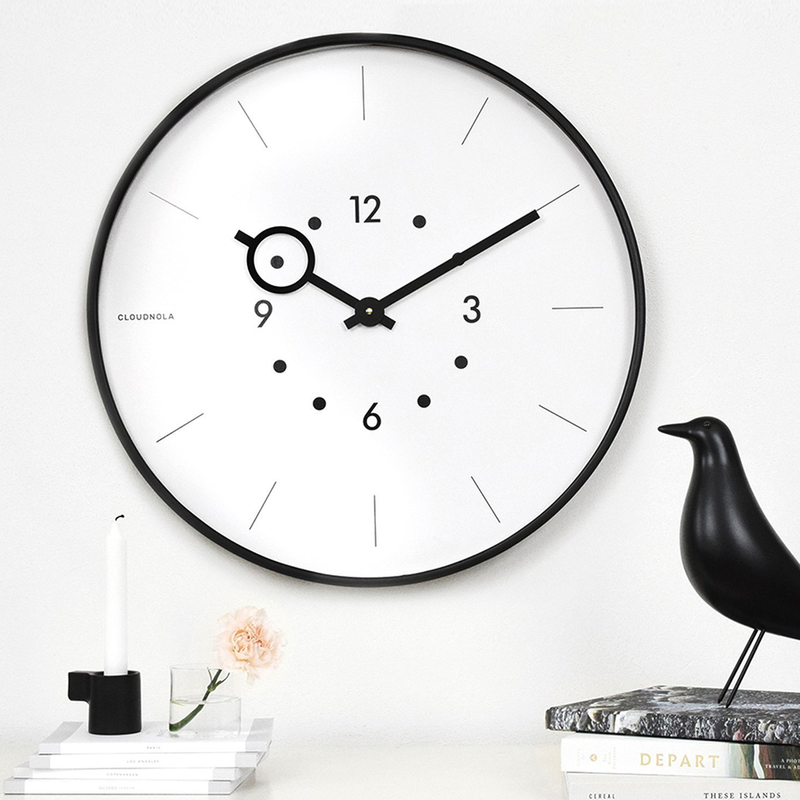 Magnifier Black Wall Clock