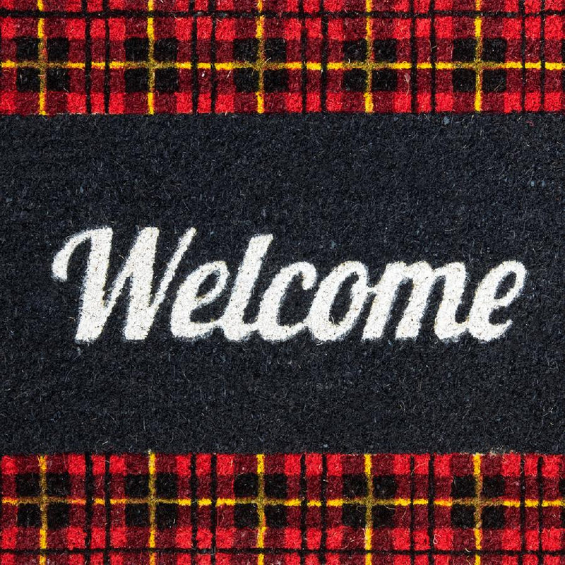 Doormat 'Welcome' Checkered Pattern