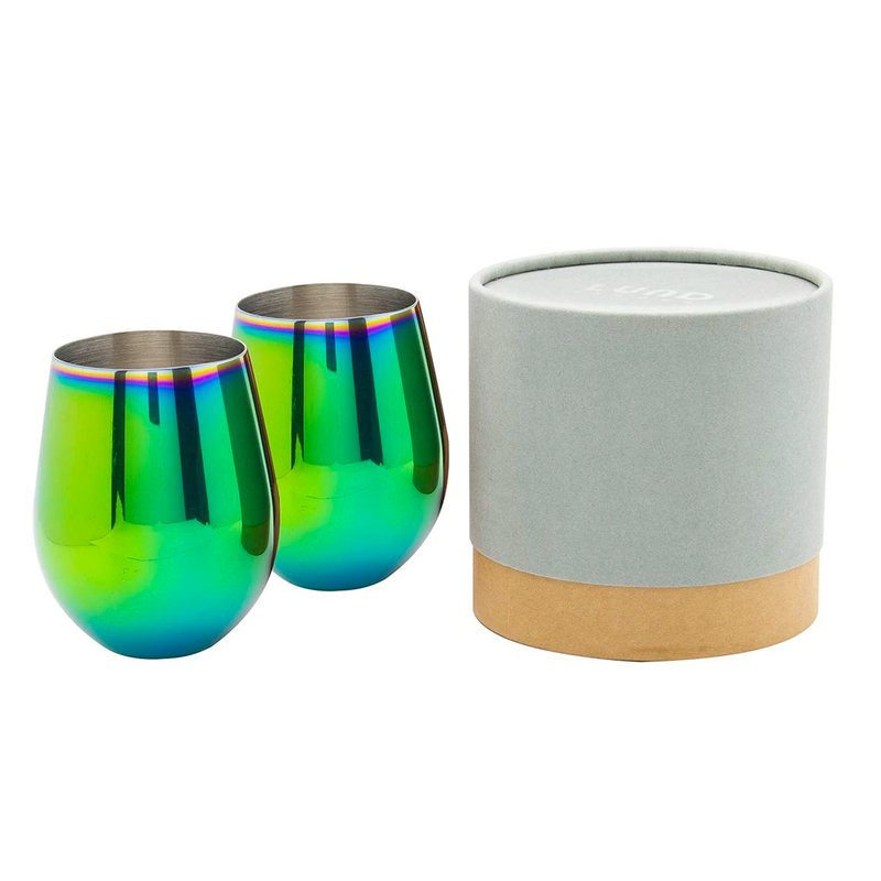 Lund Luxe Tumblers Set of 2 - Oil Slick