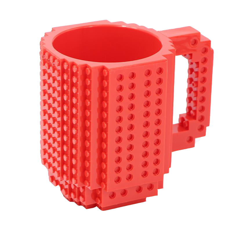 DIY Construction Red Mug