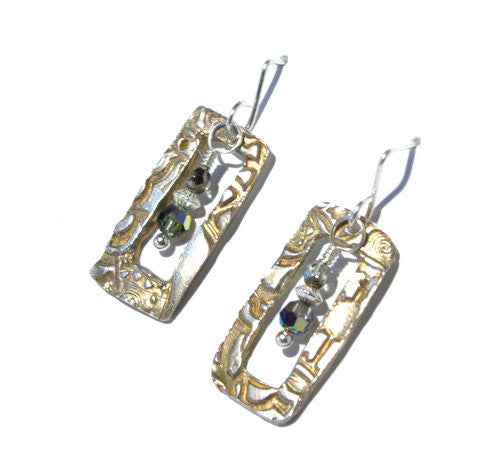 Silver Windows Earrings