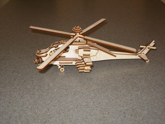 Apache Helicopter 3D Model/Puzzle