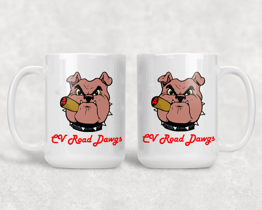White 15 oz - CV Road Dawgs Coffee Mug, Drinkware, Personally Yours Accessories