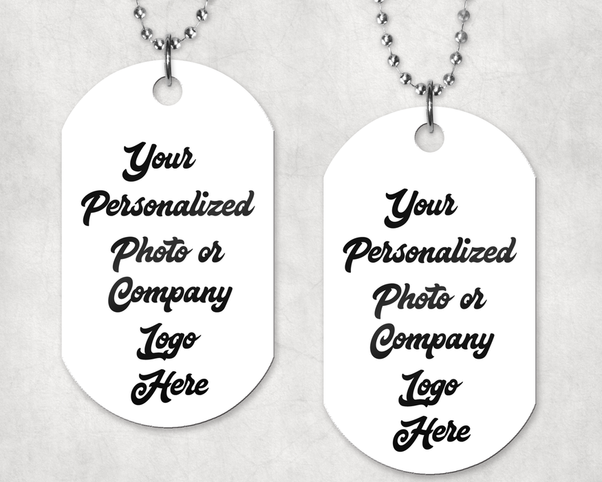 Custom Set of 2 Dog Tags, Keychain, Personally Yours Accessories