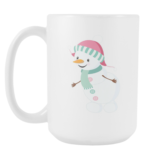 White 15oz Mug - Christmas - Snowman Friends, Drinkware, Personally Yours Accessories