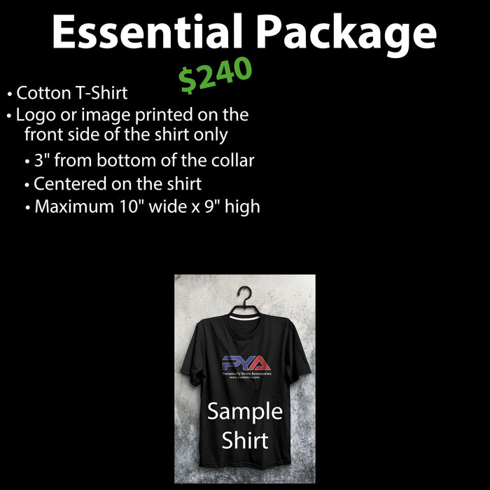 50 Custom T-Shirts for $240, Custom T-Shirts, Personally Yours Accessories