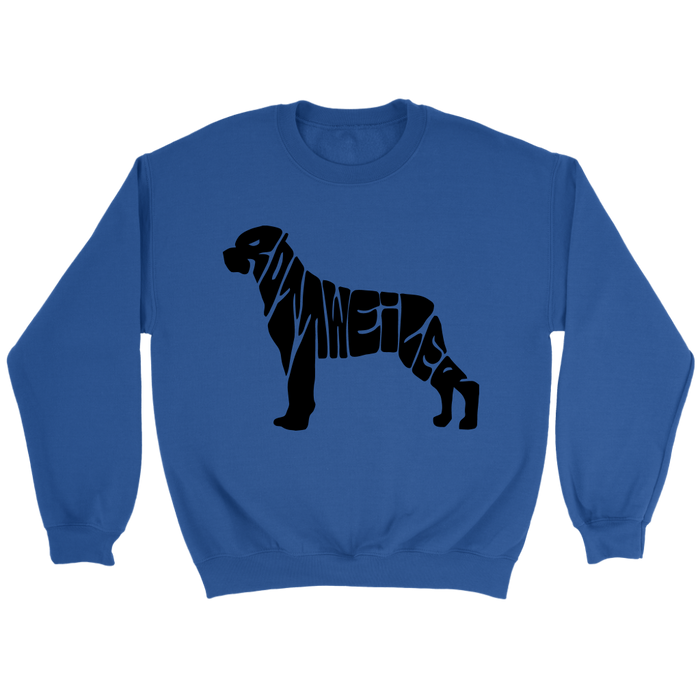 Crewneck Sweatshirt - Rottweiler Shape Name, T-shirt, Personally Yours Accessories