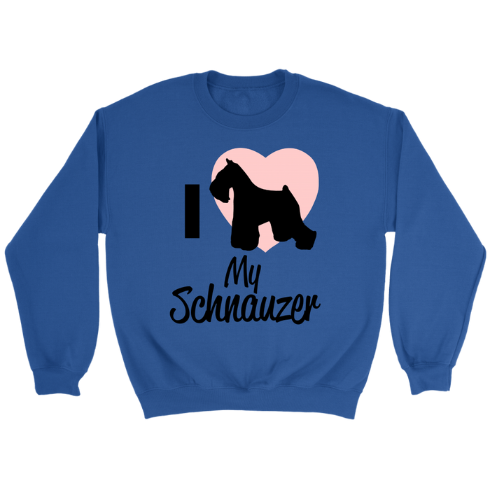 Crewneck Sweatshirt - I <3 my Schnauzer | Love, T-shirt, Personally Yours Accessories