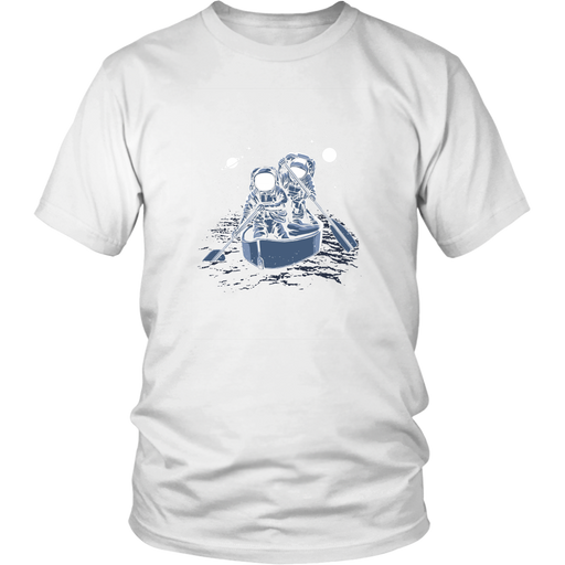 District Unisex - Astronaut Paddling Across The Galaxy, T-shirt, pyaonline