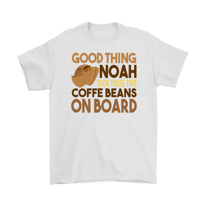 Good thing noah took those two coffe beans on board, T-shirt, Personally Yours Accessories