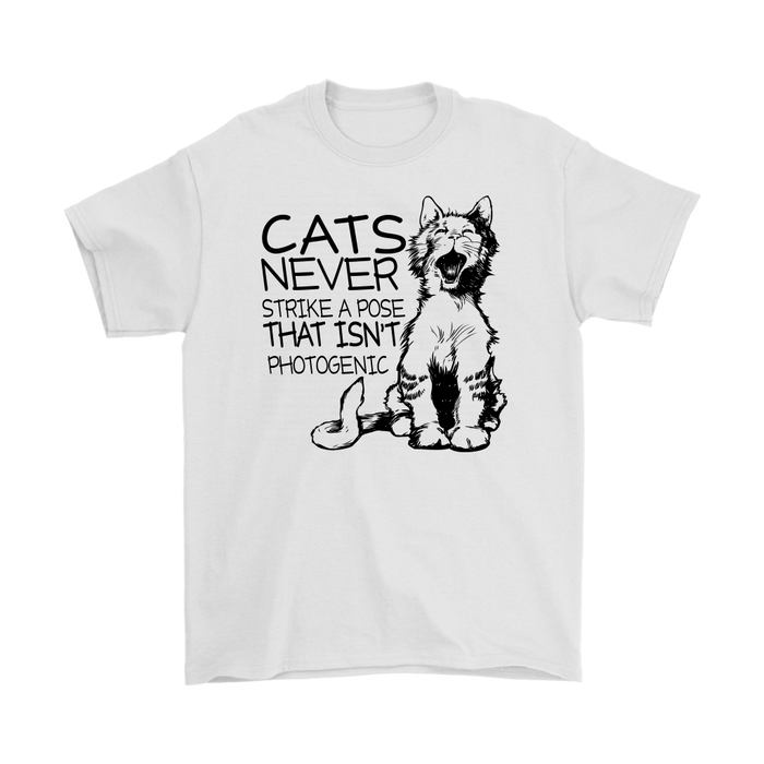 CATS NEVER STRIKE A POSE THAT ISN'T PHOTOGENIC, T-shirt, Personally Yours Accessories