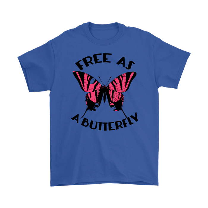 FREE AS A BUTTERFLY, T-shirt, Personally Yours Accessories