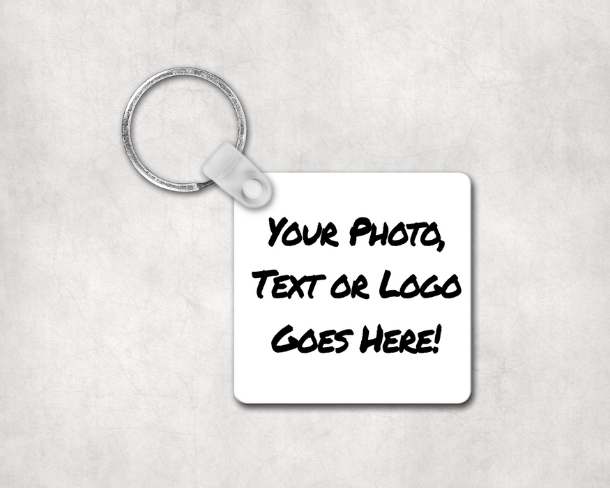 Custom Photo Keychain Square, Keychain, Personally Yours Accessories