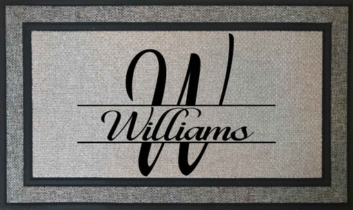 "Elegant and Durable - Personalized Monogrammed 18"" x 30"" Rubber Backing Border Door Mat, Custom Door Mats make the Perfect Housewarming Gift, Door Mat, Personally Yours Accessories"