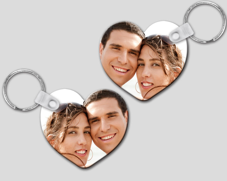 Custom Photo Heart Shaped Keychain, Keychain, pyaonline