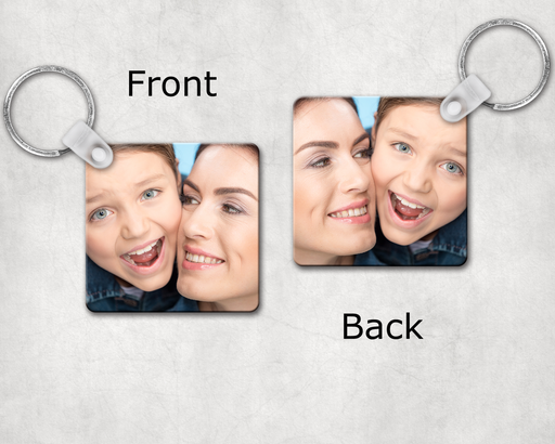 Custom Photo Keychain Square, Keychain, pyaonline