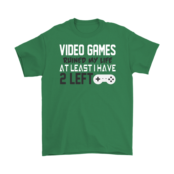 Video games ruined my life at least I have 2 left, T-shirt, Personally Yours Accessories