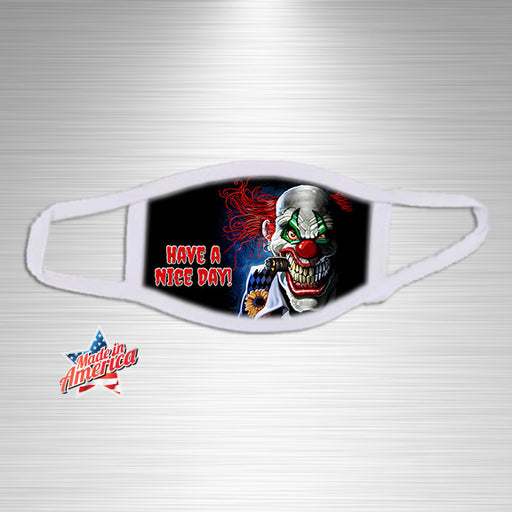 Have a Nice Day Scary Clown Print Essential Accessory, Facial Mask, Personally Yours Accessories