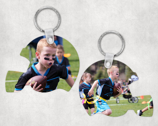 Custom Photo Helmet Shaped Keychain, Keychain, pyaonline