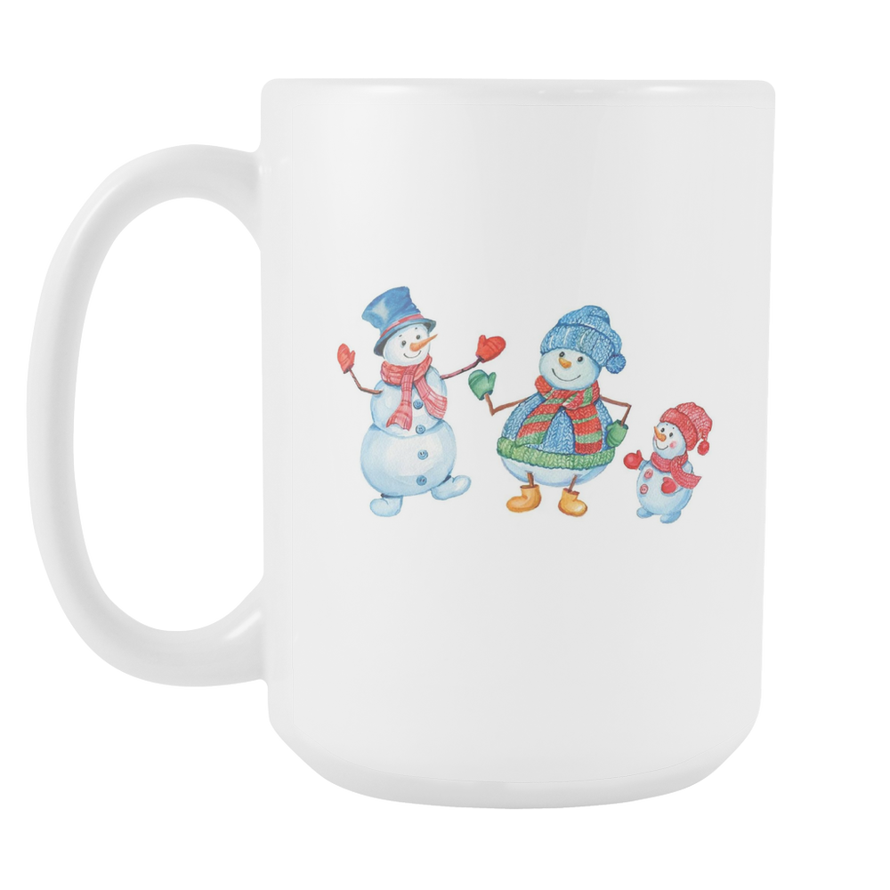 White 15oz Mug - Christmas - Families Smile, Drinkware, Personally Yours Accessories