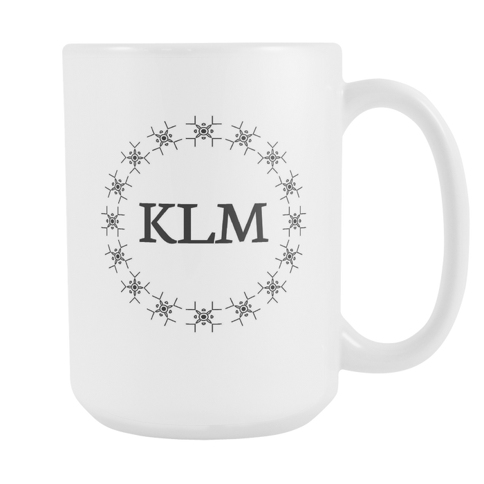 White 15 oz Mug - Monogrammed - Sound and Flow