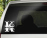 Swirl Letter K Monogram Vinyl Decal with Name Personalization | Monogrammed Decal, Custom Car Decals, Personally Yours Accessories