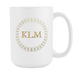 White 15 oz Mug - Monogrammed - Premium Vintage, Drinkware, Personally Yours Accessories