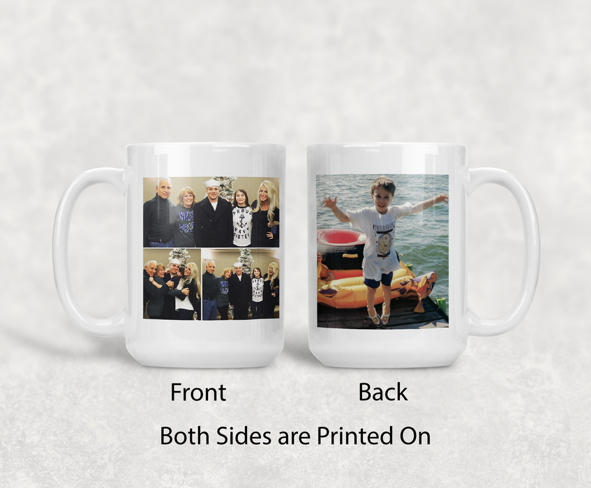 Set of 6 Custom and Personalized 15oz Coffee Mug with your Precious Memories