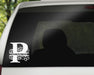 Swirl Letter P Monogram Vinyl Decal with Name Personalization | Monogrammed Decal, Custom Car Decals, Personally Yours Accessories