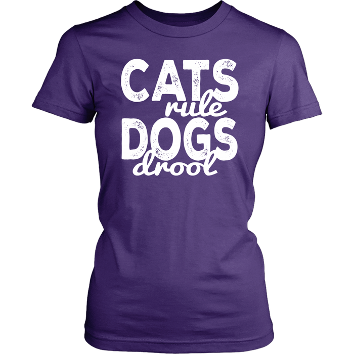 Cats Rule Dogs Drool – District Woman's T-Shirt, T-shirt, pyaonline