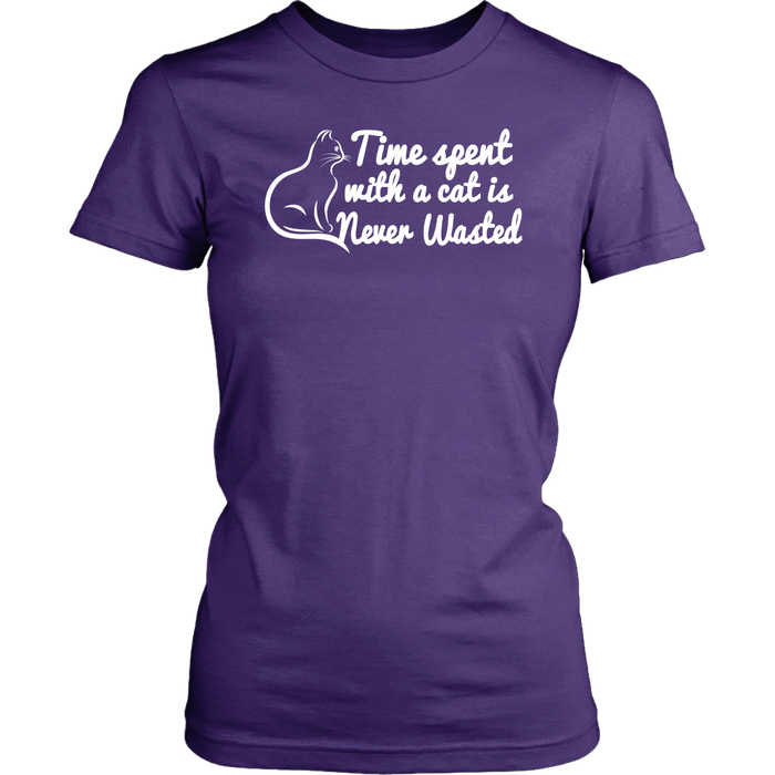 Time Sgent With A Cat Never Wasted, T-shirt, Personally Yours Accessories