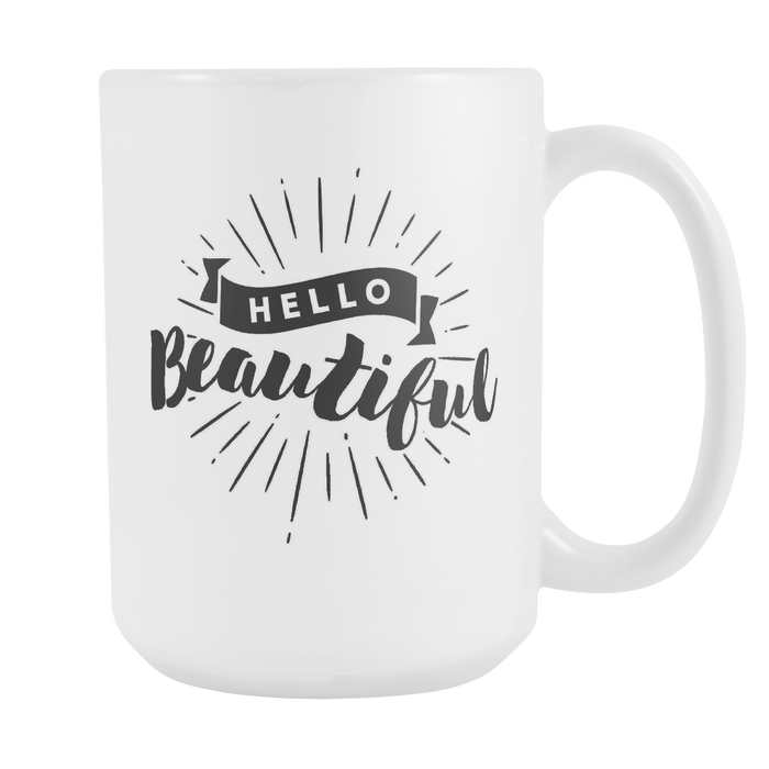 Hello Beautiful - With Graphic Left