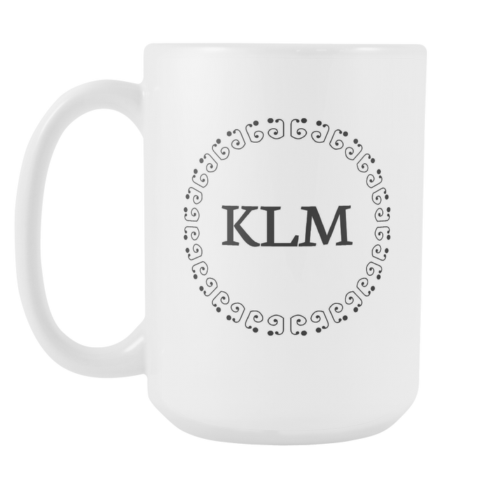 White 15 oz Mug - Monogrammed - Sensation and Armony, Drinkware, Personally Yours Accessories
