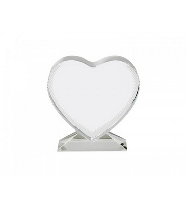 "4"" Crystal Heart with a Personalized Photo, Photo Frames, pyaonline"