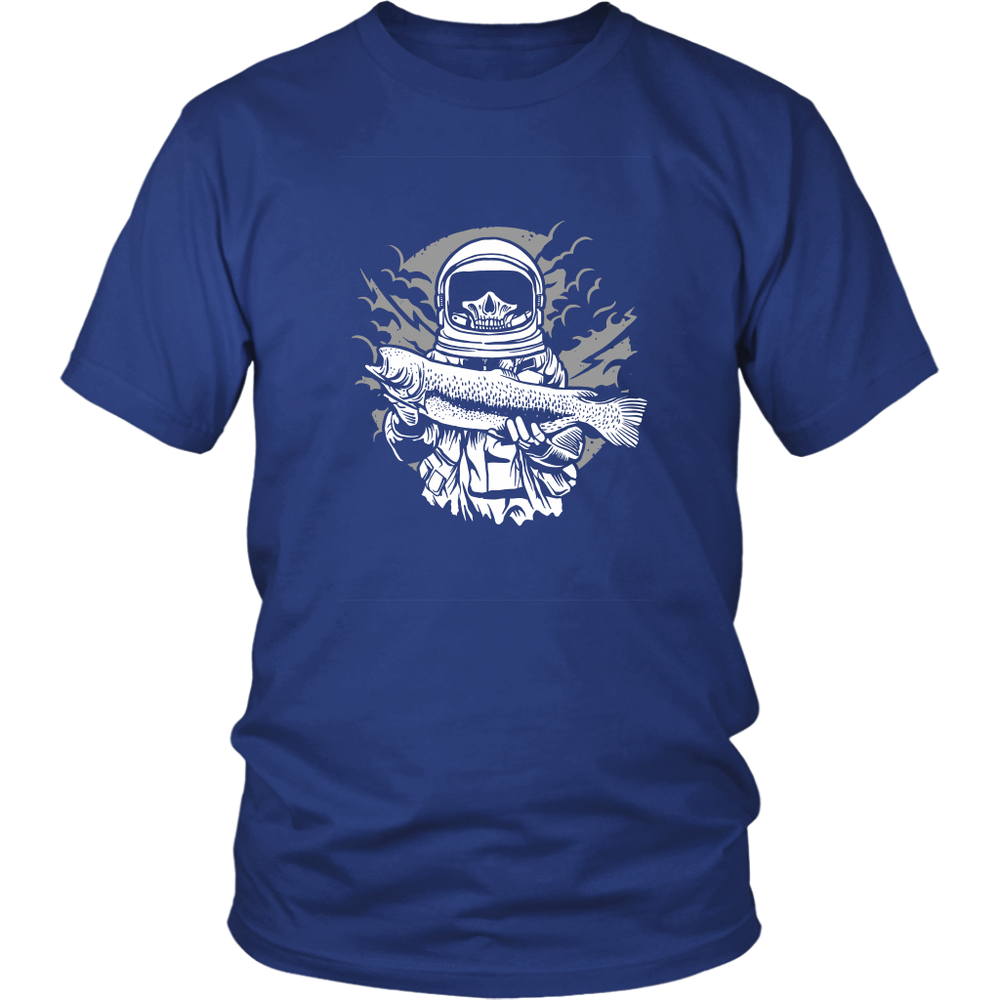 District Unisex - Fishing in Space Open and Free, T-shirt, pyaonline