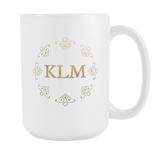 White 15 oz Mug - Monogrammed - Retro Store, Drinkware, Personally Yours Accessories