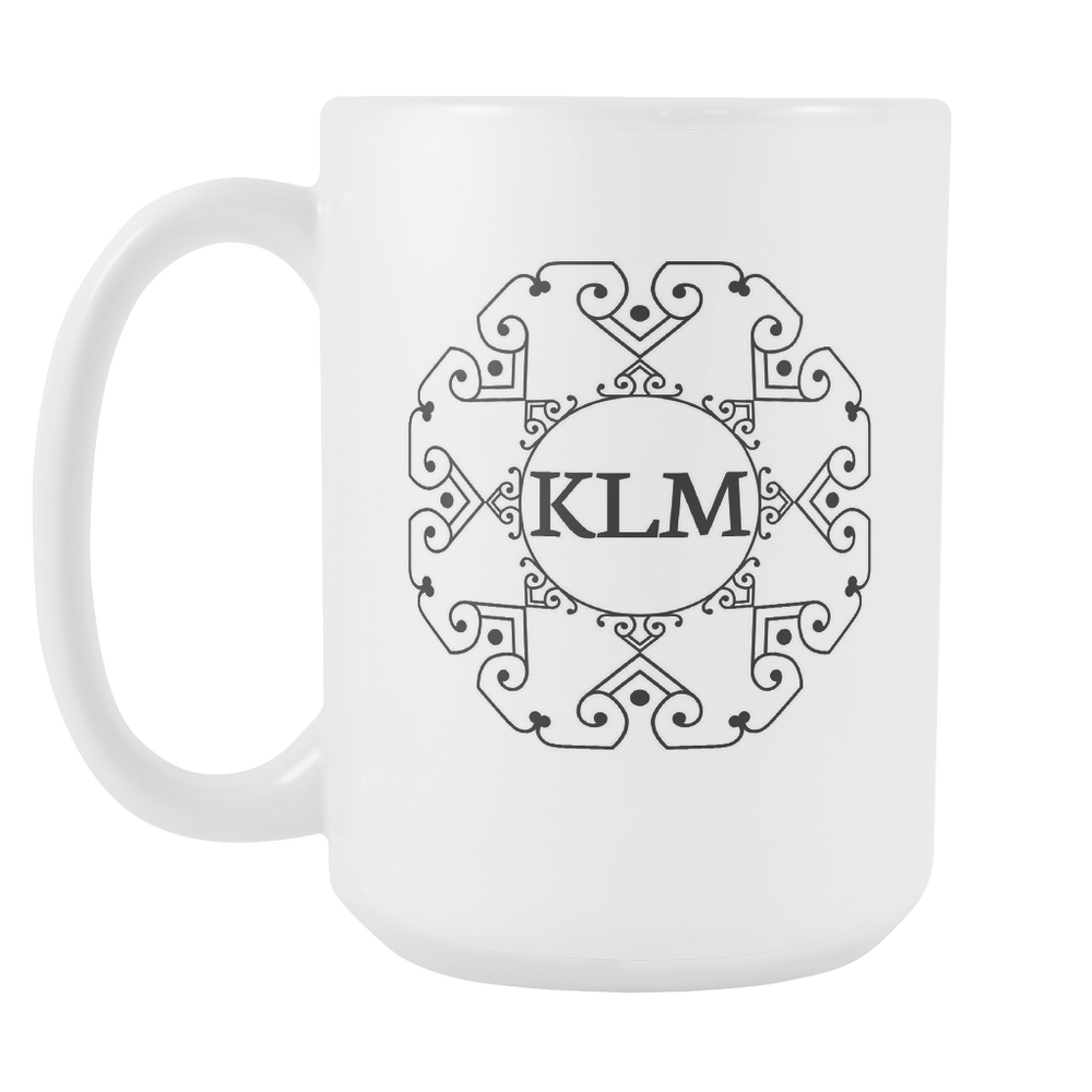 White 15 oz Mug - Monogrammed - Nancy Madison, Drinkware, Personally Yours Accessories