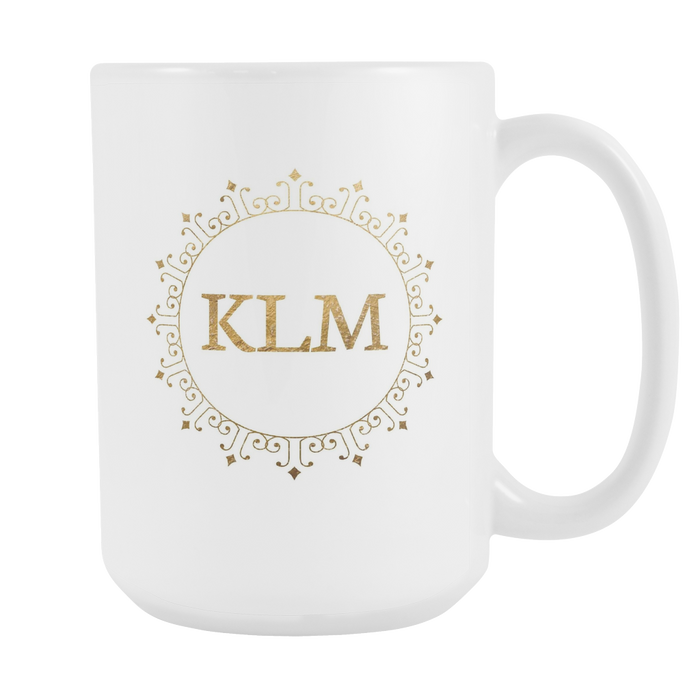 White 15 oz Mug - Monogrammed - Fashion Week, Drinkware, Personally Yours Accessories