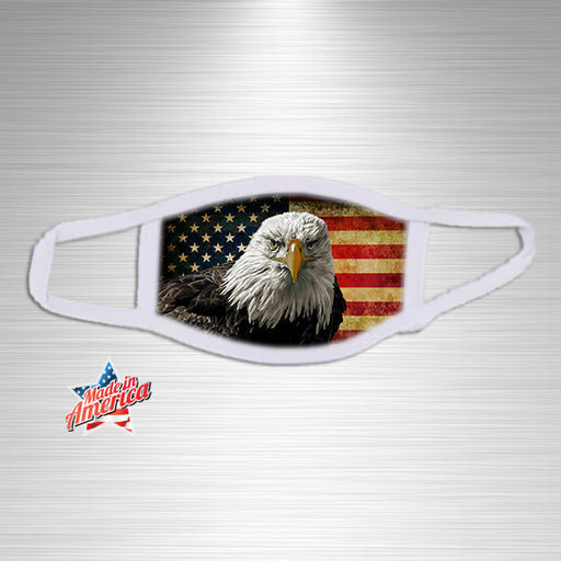Eagle and US Flag Essential Accessory, Facial Mask, Personally Yours Accessories